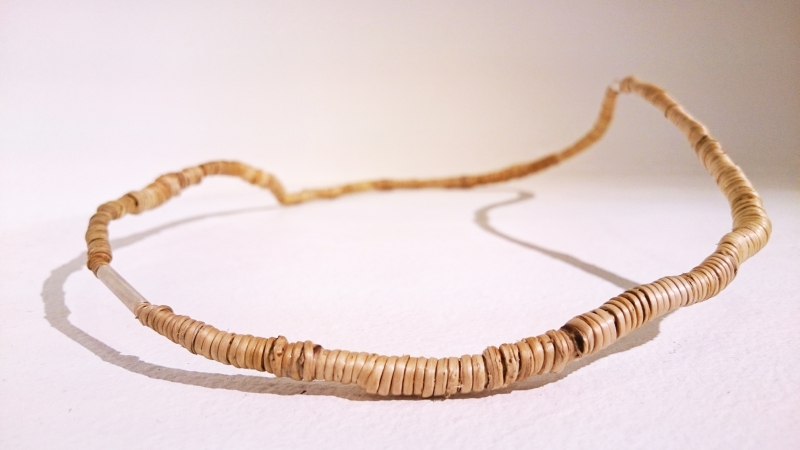 Halsband björkrot och silver / Necklace made of birchroot and silver
